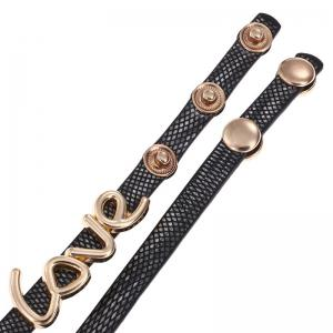 Love Faux Leather Wrap Bracelet Watch -