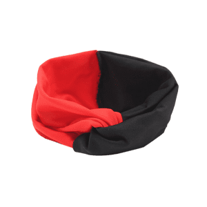 Multi Use Elastic Hair Band - BLACK AND RED
