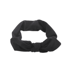 Bows Multiuse Colored Elastic Hair Band - BLACK