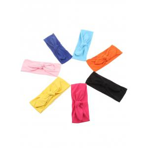 Bows Multiuse Colored Elastic Hair Band - YELLOW