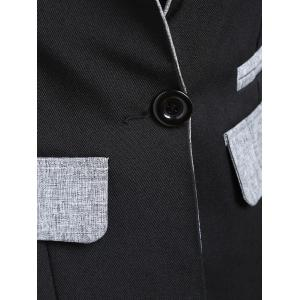 One Button Blazer - BLACK L