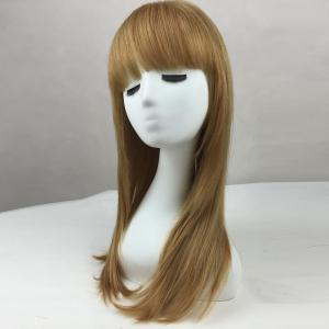 Long Full Bang Straight Human Hair Wig -