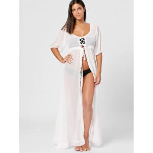Voir à travers Maxi Flowy Cover Up -