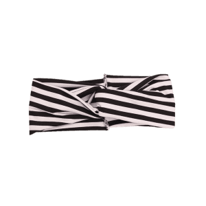 Multiuse Two Tone Striped Elastic Hair Band -