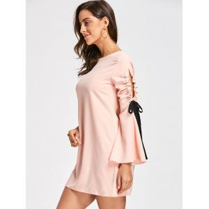 Tie Sleeve Mini Babydoll Dress -