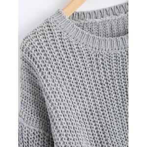 Plus Size Side Split Chunky Knit Jumper -