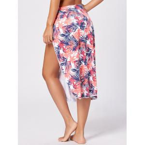 Leaf Print Swimming Cover Up - COLORMIX M