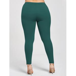 Plus Size Appliqued Skinny Jersey Leggings -