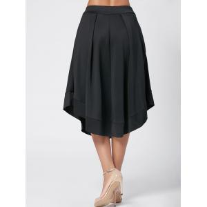 High Waist Flared Midi Skirt -