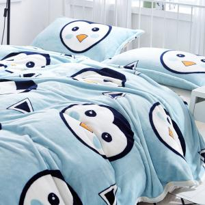 Penguin Pattern Soft Throw Blanket -