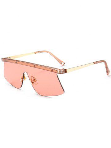 Store Mirror Semi Rimless Shield Sunglasses LIGHT RED