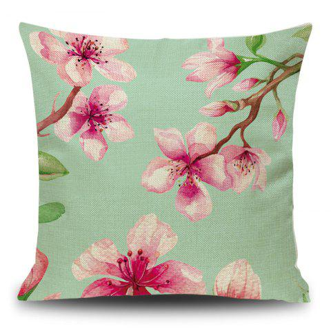 Store Linen Flower Printed Decorative Pillow Case - 45*45CM PINK Mobile