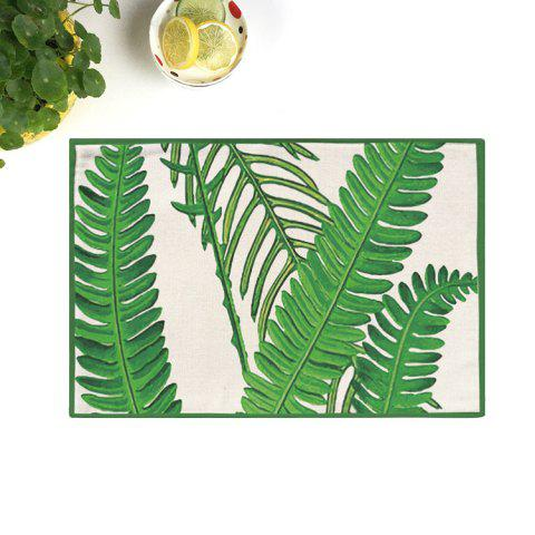 Affordable Dining Decor Plant Heat Insulated Placemat GREEN 28*44CM