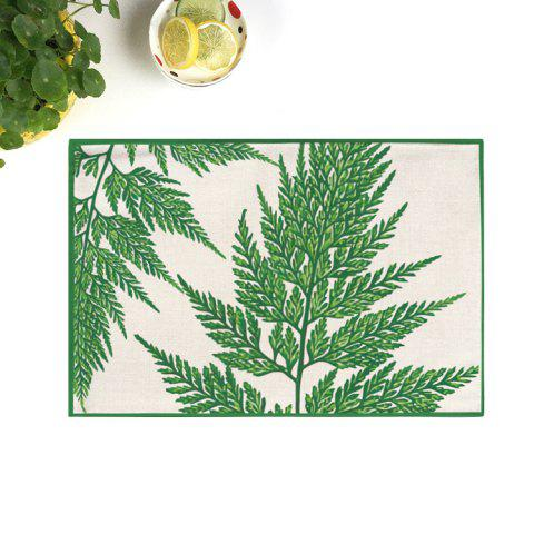 Sale Dining Decor Plant Heat Insulated Placemat DEEP GREEN 28*44CM