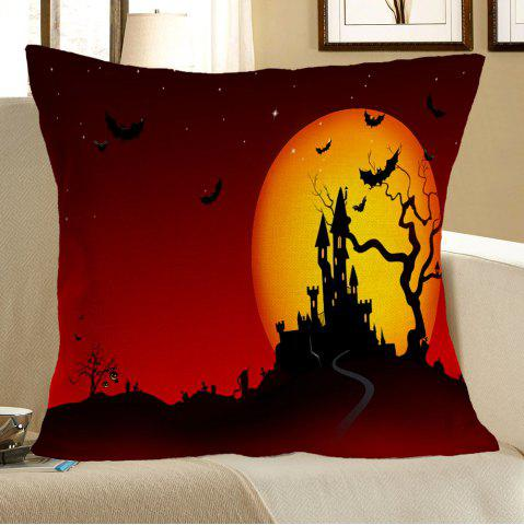 Fashion Halloween Blood Starry Moon Castle Printed Pillow Case - W18 INCH * L18 INCH COLORFUL Mobile