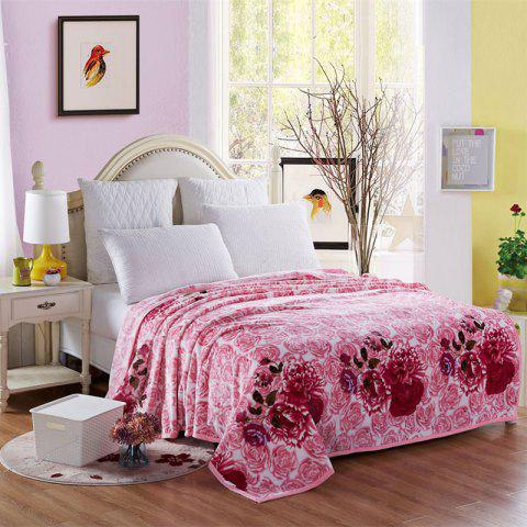 Outfit Blooming Rose Soft Bedroom Blanket - DOUBLE ROSY PINK Mobile