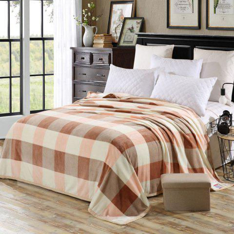Hot Soft Fabric Bedroom Plaid Blanket - EURO KING CHECKED Mobile