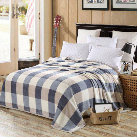 Fancy Bedroom Product Plaid Soft Throw Blanket - DOUBLE CHECKED Mobile