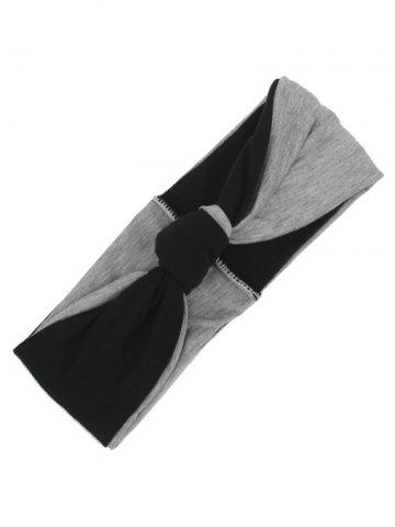 Trendy Two Tone Elastic Multiuse Hair Band - BLACK  Mobile