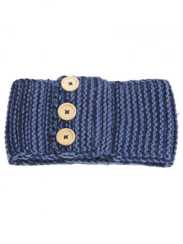 Online Crochet Warm Button Elastic Hair Band