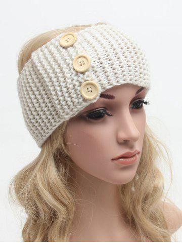 Crochet Warm Button Bande élastique