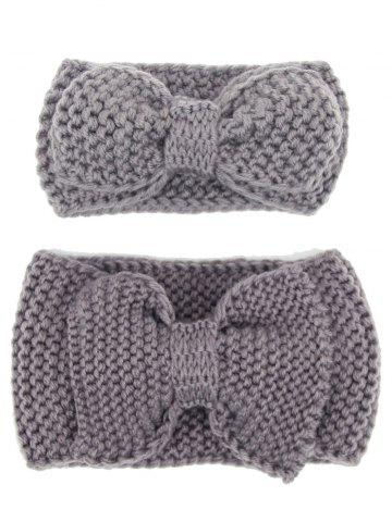 Chic Crochet Bows Elastic Mom and Kid Hair Band Set