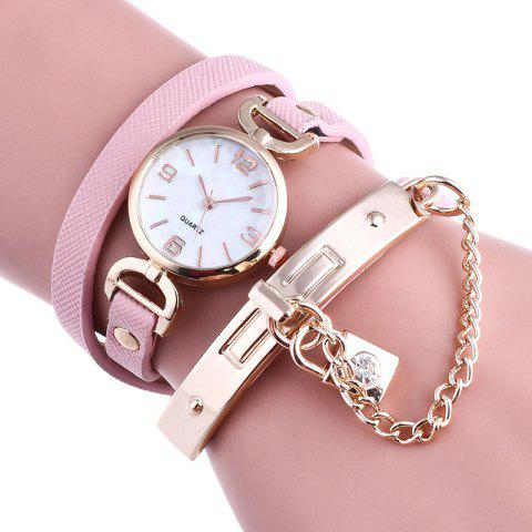 Sale Lock Number Wrap Bracelet Watch