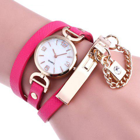 Hot Lock Number Wrap Bracelet Watch