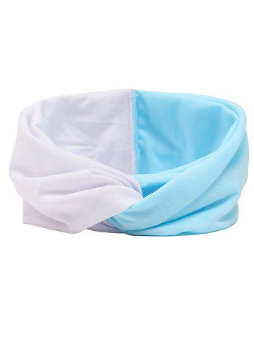 Chic Multi Use Elastic Hair Band BLUE AND WHITE