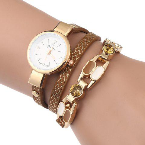 Cheap Rhinestone Layered Wrap Bracelet Watch