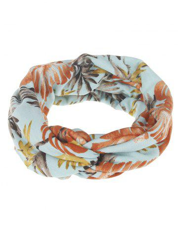 Affordable Leaf Print Multiuse Elastic Hair Band
