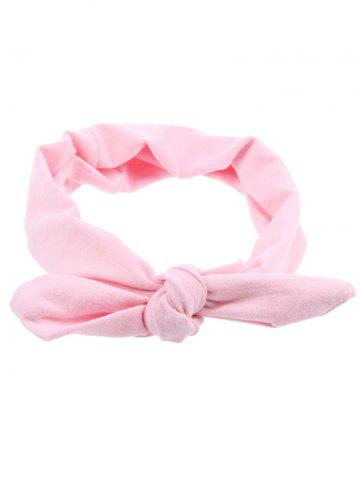 Chic Bows Multiuse Colored Elastic Hair Band - PINK  Mobile