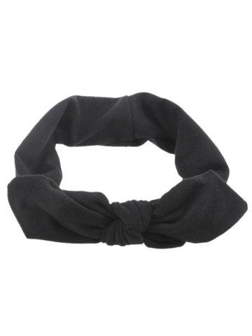 Fashion Bows Multiuse Colored Elastic Hair Band BLACK