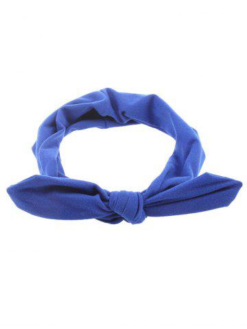Cheap Bows Multiuse Colored Elastic Hair Band BLUE