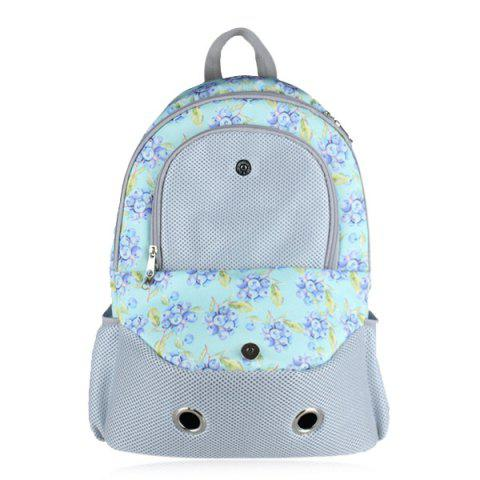Fancy Flower Print Eyelet Pet Backpack