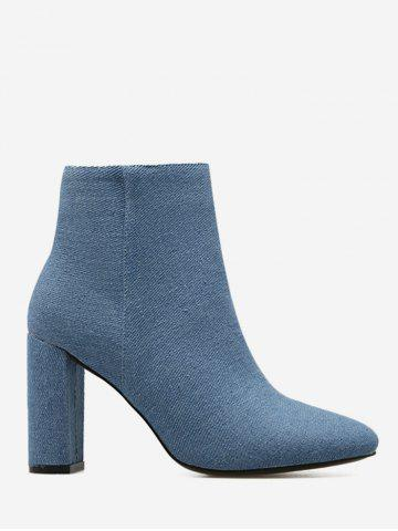 Outfits Chunky Heel Denim Boots BLUE 39