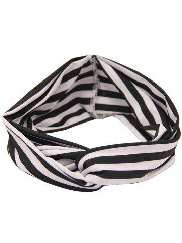Affordable Multiuse Two Tone Striped Elastic Hair Band