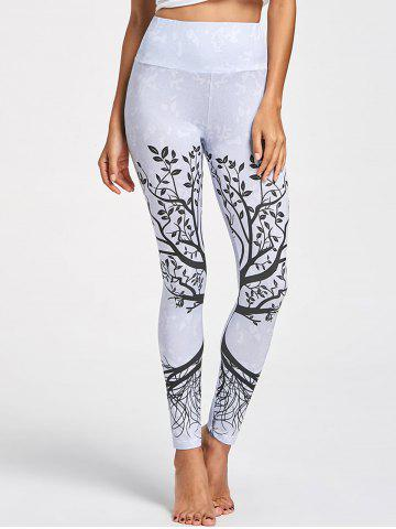 Hot Tree Pattern High Waist Leggings