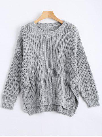 Shops Plus Size Side Split Chunky Knit Jumper