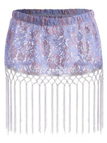 Latest Floral Lace Tassel Plus Size Extender Sheer Skirt