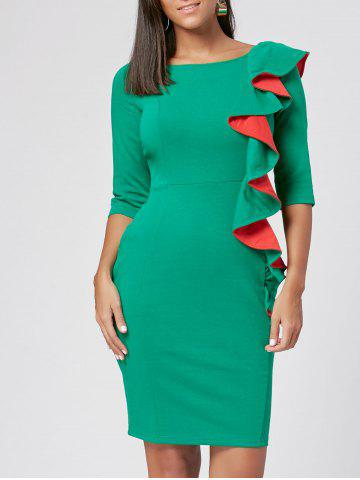 Robe Bodycon Robe Ruffée