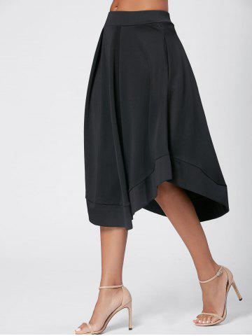 Shop High Waist Flared Midi Skirt