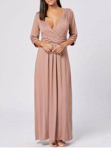 Best Empire Waist V Neck Long Maxi Dress