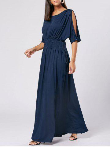 New High Waist Slit Sleeve Maxi Party Dress