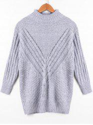 Ribbed High Neck Sweater -