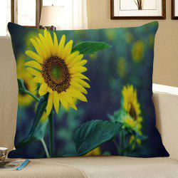 Sunflower Printed Square Pillow Case -