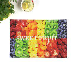 Fruit Print Table Linen Placemat décoratif - coloré 28*44CM