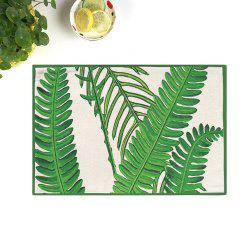 Dining Decor Plant Heat Insulated Placemat - GREEN 28*44CM