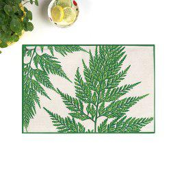 Dining Decor Plant Heat Insulated Placemat - DEEP GREEN 28*44CM