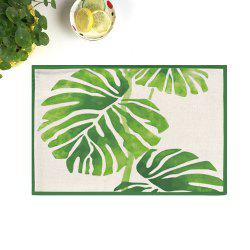 Dining Decor Plant Heat Insulated Placemat - CELADON 28*44CM